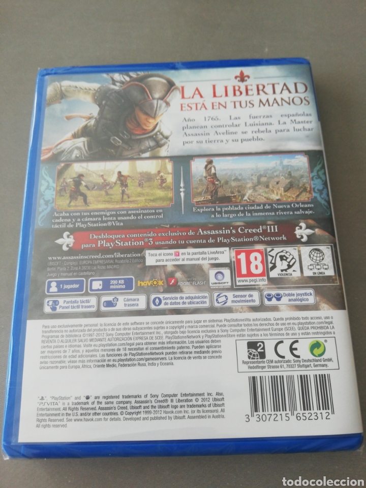 Videojuegos y Consolas PS Vita: Assassins Creed III Liberation PSVITA - NUEVO - Foto 2 - 202808096