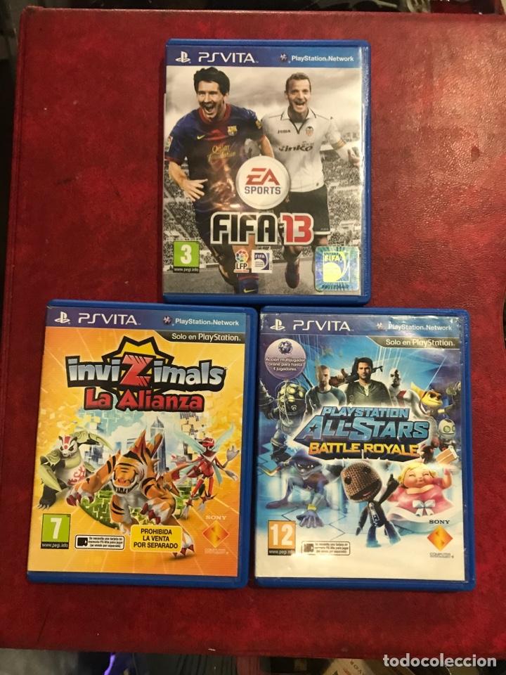 3 JUEGOS PSVITA DIFERENTES (Juguetes - Videojuegos y Consolas - Sony - PS Vita)