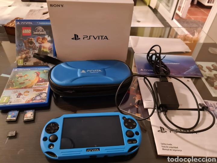 PSVITA PLAYSTATION VITA CON FUNDA ORIGINAL, TARJETA DE MEMORIA 8GB 4 JUEGOS Y PROTECTOR (Juguetes - Videojuegos y Consolas - Sony - PS Vita)