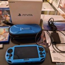 Jeux Vidéo et Consoles: PSVITA PLAYSTATION VITA CON FUNDA ORIGINAL, TARJETA DE MEMORIA 8GB 4 JUEGOS Y PROTECTOR. Lote 215573790