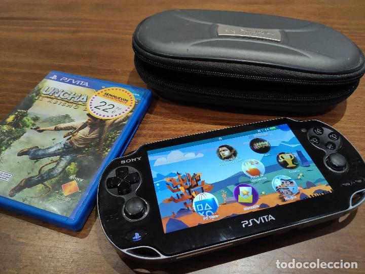 PSVITA PLAYSTATION VITA CON FUNDA ORIGINAL, CARGADOR Y 2 JUEGOS (Juguetes - Videojuegos y Consolas - Sony - PS Vita)