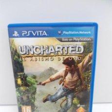 Videojuegos y Consolas PS Vita: UNCHARTED - EL ABISMO DEL ORO - PS VITA PSVITA - EXCELENTE ESTADO. Lote 219209555