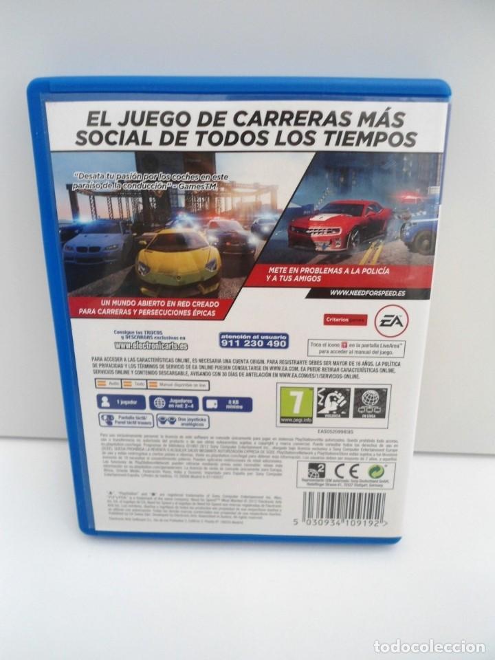 Videojuegos y Consolas PS Vita: NEED OFR SPEED MOST WANTED - PS VITA PSVITA - EXCELENTE ESTADO - Foto 4 - 219210786