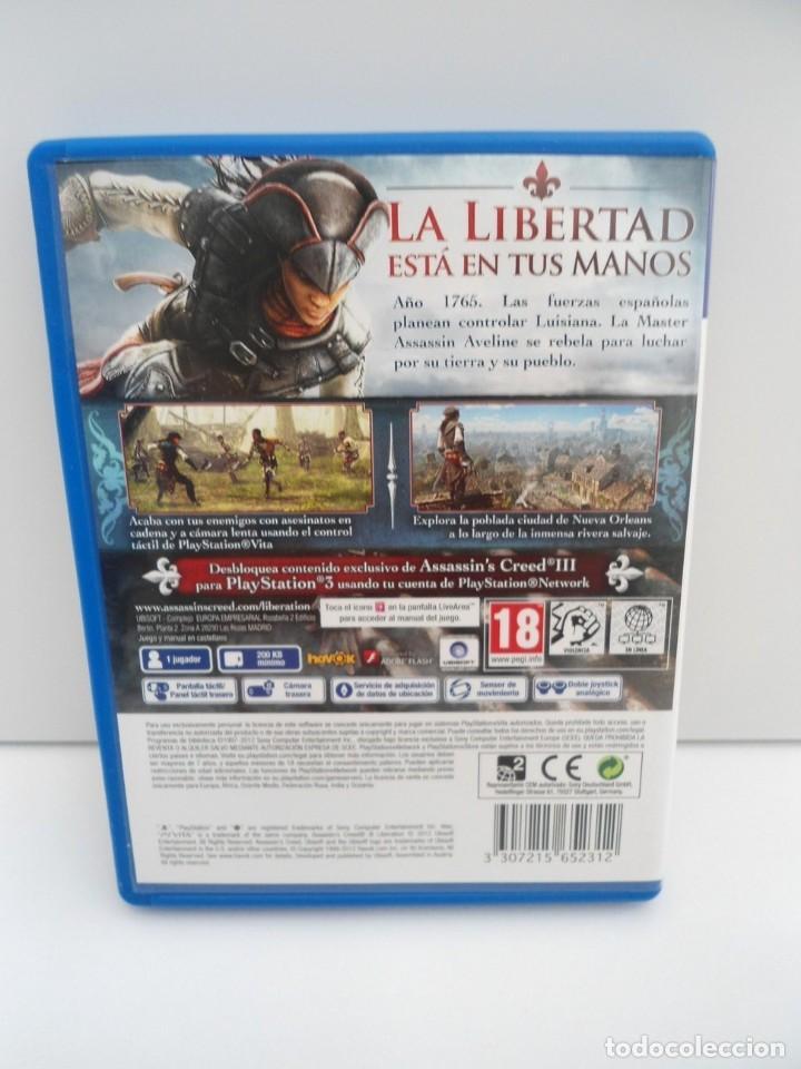 Videojuegos y Consolas PS Vita: ASSASSIN´S CREED III LIBERATION - PS VITA PSVITA - EXCELENTE ESTADO - Foto 5 - 219211075