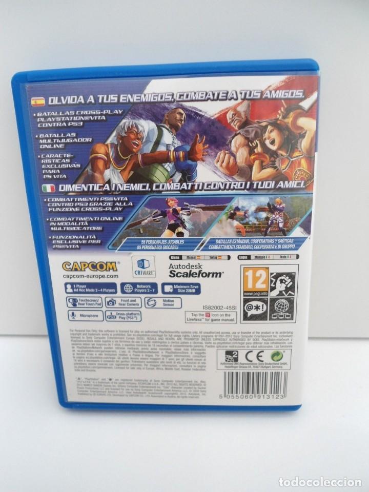 Videojuegos y Consolas PS Vita: STREET FIGHTER X TEKKEN - PS VITA PSVITA - EXCELENTE ESTADO - Foto 5 - 219222008