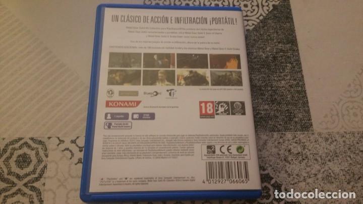 Videojuegos y Consolas PS Vita: METAL GEAR SOLID 2 Y 3 HD COLLECTION PS VITA PAL ESPAÑA - Foto 2 - 219223412
