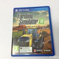Videojuegos y Consolas PS Vita: FARMING SIMULATOR 18. Lote 223713517