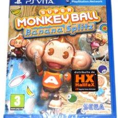 Videojuegos y Consolas PS Vita: JUEGO PSVITA SUPER MONKEY BALL BANANA SPLITZ NUEVO PRECINTADO. Lote 229728295