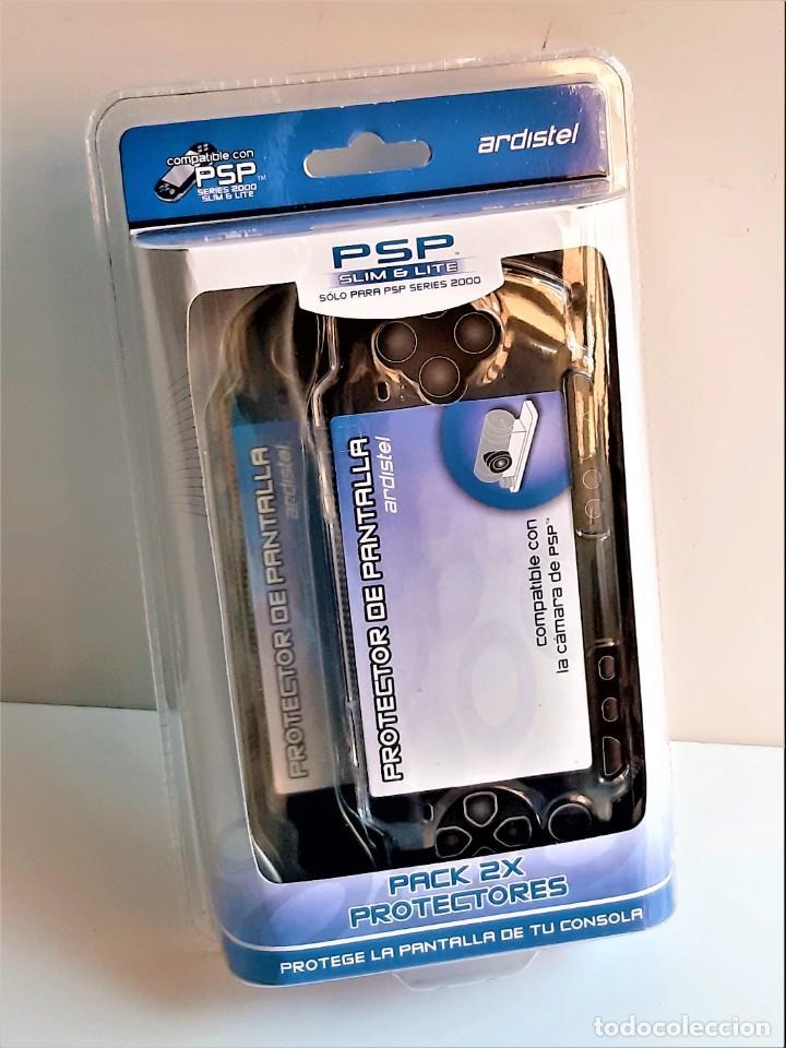 Videojuegos y Consolas PS Vita: DOS PROTECTORES DE PANTALLA RIGIDOS CONSOLA PSP, SLIM Y LITE NUEVOS EN BLISTER - Foto 5 - 280563853