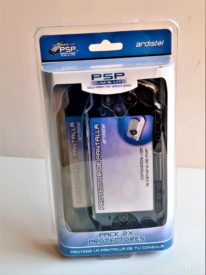 DOS PROTECTORES DE PANTALLA RIGIDOS CONSOLA PSP, SLIM Y LITE NUEVOS EN BLISTER (Juguetes - Videojuegos y Consolas - Sony - PS Vita)