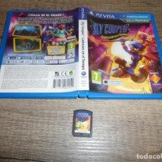 Videojuegos y Consolas PS Vita: PSVITA SLY COOPER LADRONES EN EL TIEMPO PAL ESP COMPLETO. Lote 260100585