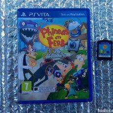 Videojuegos y Consolas PS Vita: JUEGO PS VITA PHINEAS Y FERB EN PERFECTO ESTADO. Lote 264684429