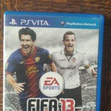 Videojuegos y Consolas PS Vita: FIFA 13 2013 - PSVITA - JUEGO PAL - FUNCIONANDO - PLAYSTATION VITA.. Lote 276298298