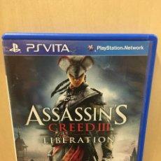 Videojuegos y Consolas PS Vita: ASSASSINS CREED 3 LIBERATION - PS VITA (2ª MANO - BUENO). Lote 288424448