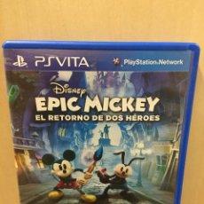 Videojuegos y Consolas PS Vita: EPIC MICKEY 2 EL RETORNO DE DOS HÉROES - PS VITA (2ª MANO - BUENO). Lote 288424463
