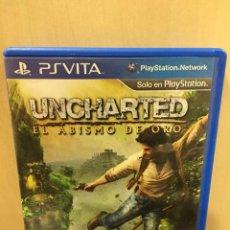 Videojuegos y Consolas PS Vita: UNCHARTED: GOLDEN ABYSS - PS VITA (2ª MANO - BUENO). Lote 288424523