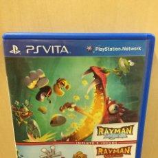 Videojuegos y Consolas PS Vita: COMPILACIÓN RAYMAN LEGENDS + ORIGINS - PS VITA (2ª MANO - BUENO). Lote 288424558