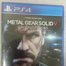 Videojuegos y Consolas PS4: JUEGO PS4 COMPLETO METAL GEAR SOLID V - GROUND ZEROES. Lote 67743513