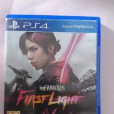 Videojuegos y Consolas PS4: INFAMOUS FIRST LIGHT. Lote 98054111