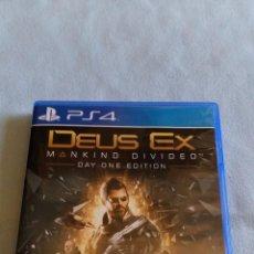 Videojuegos y Consolas PS4: DEUS EX MANKIND DIVIDED - PLAYSTATION 4 - SEMINUEVO. Lote 105862843