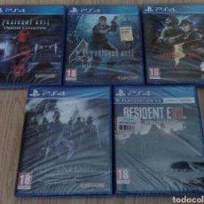 Videojuegos y Consolas PS4: COLECCIÓN DE VIDEOJUEGOS DE RESIDENT EVIL PARA PLAYSTATION 4 (PAL DE ESPAÑA) PRECINTADOS DE FÁBRICA. Lote 110038144