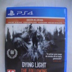 Videojuegos y Consolas PS4: DYING LIGHT THE FOLLOWING (VERSION MEJORADA) PS4. Lote 110082639
