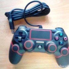 Videojuegos y Consolas PS4: MANDO PARA SONY PS4 CON CABLE USB 1.8M + 4 FUNDAS SILICONA PARA BOTONES. Lote 181167261