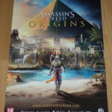 Videojuegos y Consolas PS4: ASSASSIN'S CREED ORIGINS POSTER DOBLE CARA UBISOFT 60 CM X 42 CM PS4 XBOX ONE CARTEL VIDEOJUEGO. Lote 114636411