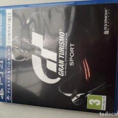 Videojuegos y Consolas PS4: 08-00231 GT SPORT - GRAN TURISMO SPORT. Lote 129009383