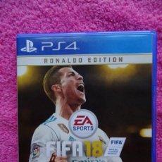 Videojuegos y Consolas PS4: FIFA 18 RONALDO EDITION PS4 EL JUEGO DEL MUNDO. Lote 143205438