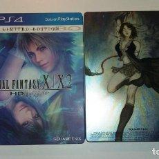 Videojuegos y Consolas PS4: FINAL FANTASY X / X-2 PS4 CAJA CON DISEÑO DE YOSHITAKA AMANO,EDIC.LIMITADA. Lote 146762402