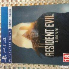 Videojuegos y Consolas PS4: RESIDENT EVIL VII 7 LENTICULAR EXTERNA SIN JUEGO. Lote 147079214