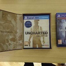Videojuegos y Consolas PS4: COLECCIÓN UNCHARTED 1,2,3,4 CON ESTUCHE. Lote 147567978