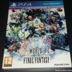 Videojuegos y Consolas PS4: WORLD OF FINAL FANTASY PS4 EDICIÓN LIMITADA, COMPLETO E IMPECABLE. Lote 149478178