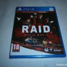 Videojuegos y Consolas PS4: RAID WORLD WAR 2 PLAYSTATION 4 PAL NUEVO Y PRECINTADO. Lote 156081922