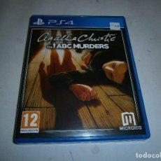 Videojuegos y Consolas PS4: AGATHA CHRISTIE ABC MURDERS PLAYSTATION 4 NUEVO Y PRECINTADO . Lote 156084678