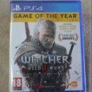 Videojuegos y Consolas PS4: THE WITCHER WILD HUNT GAME OF THE YEAR EDITION PS4 VERSION INGLES NUEVO PRECINTADO. Lote 159678970