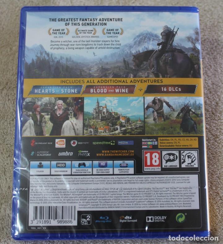 Videojuegos y Consolas PS4: THE WITCHER WILD HUNT GAME OF THE YEAR EDITION PS4 VERSION INGLES NUEVO PRECINTADO - Foto 2 - 159678970