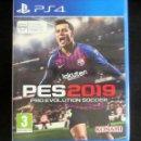 Videojuegos y Consolas PS4: JUEGO PLAYSTATION PS4 PES 2019 PRO EVOLUTION SOCCER KONAMI. Lote 160342122