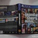 Videojuegos y Consolas PS4: GTA V (SOLO CARATULA). Lote 160357526