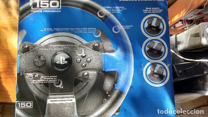 Videojuegos y Consolas PS4: VOLANTE Y PEDALES THRUSTMASTER T150 FORCE FEEDBACK - SIN USO - PS4 - PS3 - PC - PLAYSTATION - Foto 2 - 173388410