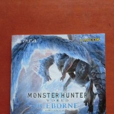 Videojuegos y Consolas PS4: GUÍA CATÁLOGO JAPONÉS SALIDA AL MERCADO MONSTER HUNTER WORLD ICEBORNE. PLAYSTATION 4. CAPCOM.. Lote 175453052