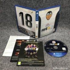 Videojuegos y Consolas PS4: FIFA 18 VALENCIA SONY PLAYSTATION 4 PS4. Lote 179124088