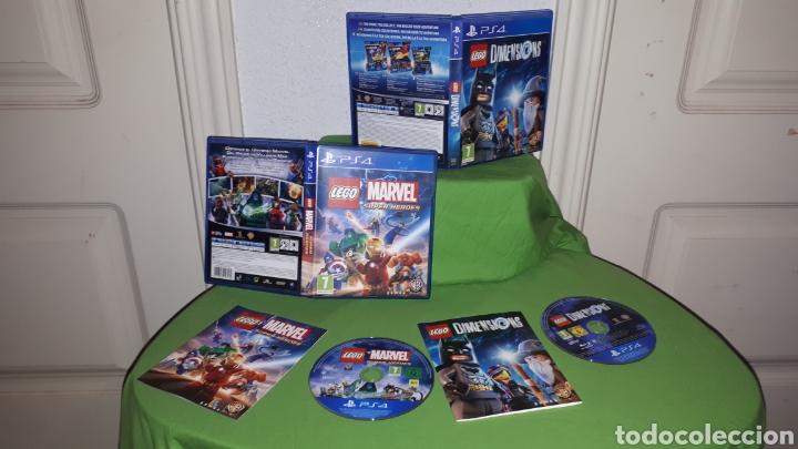 LOTE 2 JUEGOS LEGO MARVEL SUPER HEROES Y DIMENSIONS (Juguetes - Videojuegos y Consolas - Sony - PS4)