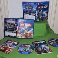 Videojuegos y Consolas PS4: LOTE 2 JUEGOS LEGO MARVEL SUPER HEROES Y DIMENSIONS. Lote 180459167