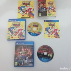 Videojuegos y Consolas PS4: SONIC MANIA + SONIC FORCES + ARTBOOK PS4 PLAYSTATION 4 COMO NUEVO. Lote 182332661