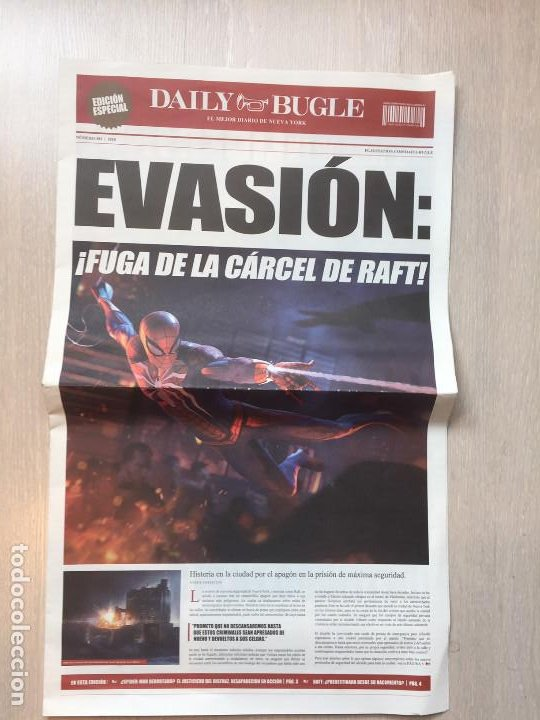PERIÓDICO DAILY BUGLE EDICIÓN ESPECIAL SPIDER-MAN VIDEJUEGO PS4 (Juguetes - Videojuegos y Consolas - Sony - PS4)