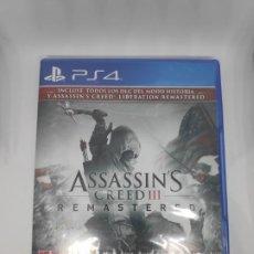 Videojuegos y Consolas PS4: ASSASSINS CREED III + AC LIBERATION REMASTERED PS4 PRECINTADO. Lote 191710427