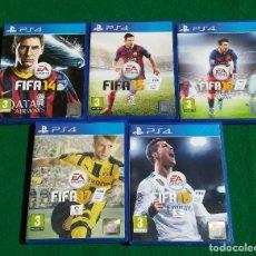 Videojuegos y Consolas PS4: LOTE DE 5 JUEGOS PS4 FIFA DEL 2014 AL 2018.. Lote 196229696