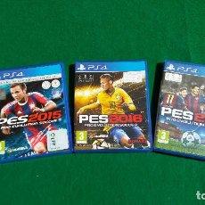 Videojuegos y Consolas PS4: LOTE DE 3 JUEGOS PS4 PRO EVOLUTION SOCCER DEL 2015 AL 2017.. Lote 196229842